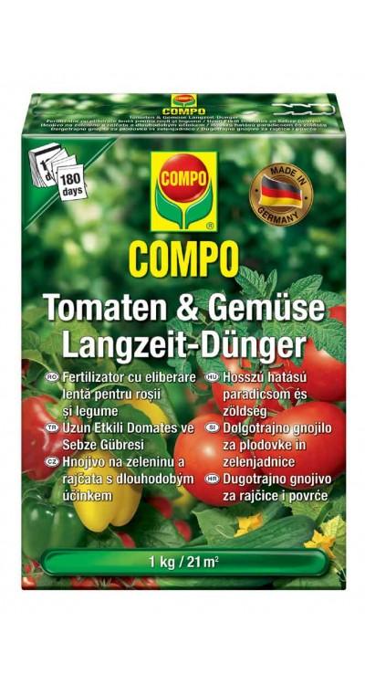 COMPO Hnojivo pro rajčata a zeleninu s dlouhodobým účinkem