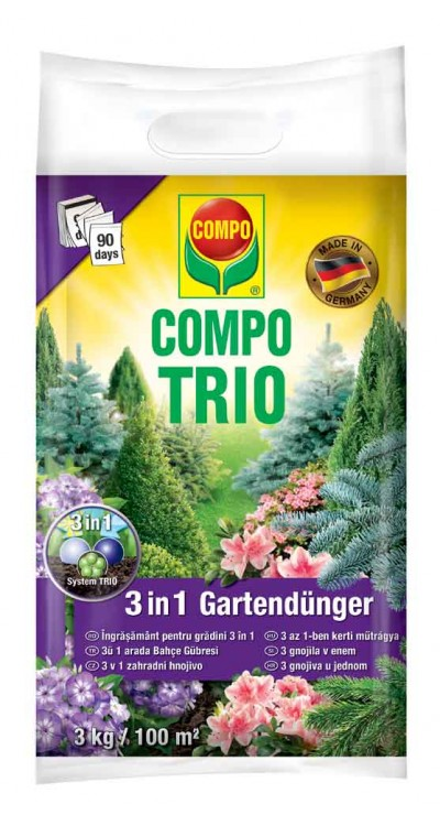 COMPO TRIO 3 v1 Zahradní hnojivo pro konifery a keře