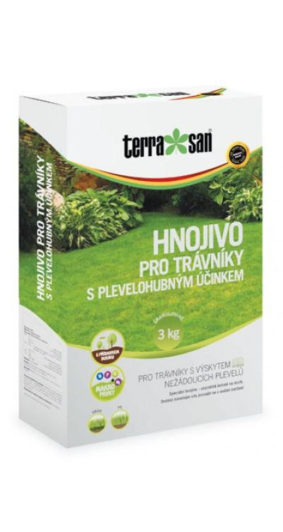 Hnojivo pro trávníky s plevelohubným účinkem